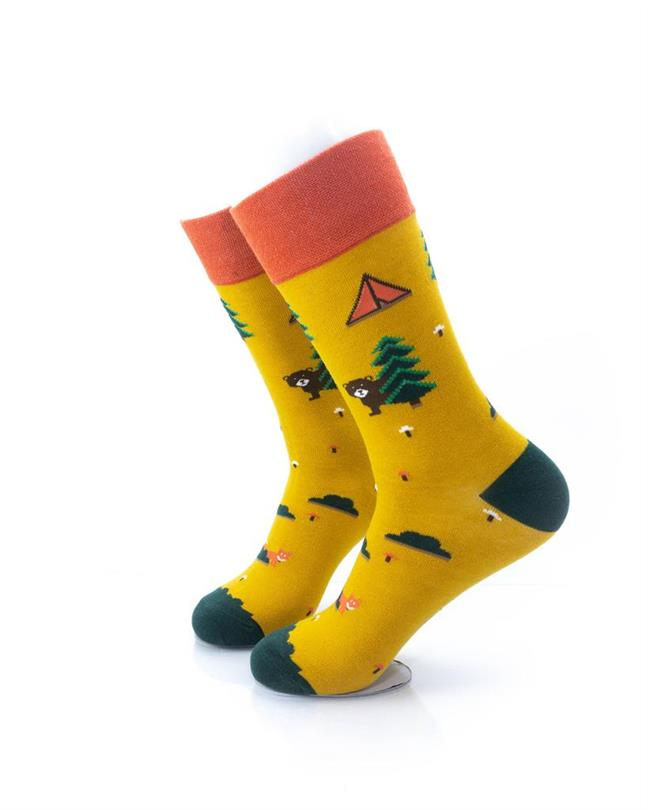 CoolDeSocks Camping Ground Socks left view image