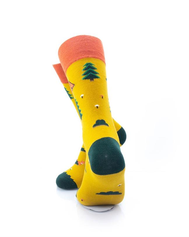 CoolDeSocks Camping Ground Socks rear view image