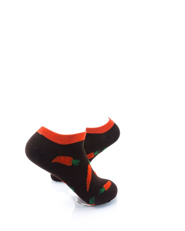 CoolDeSocks Carrots Brown Ankle Socks right view image