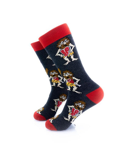 CoolDeSocks Caveman - Red Socks left view image