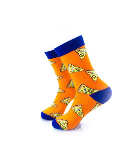 CoolDeSocks Cheese (Q) Socks left view image