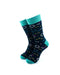 cooldesocks chemical formulas green crew socks front view image