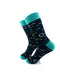 cooldesocks chemical formulas green crew socks left view image