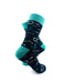 cooldesocks chemical formulas green crew socks right view image
