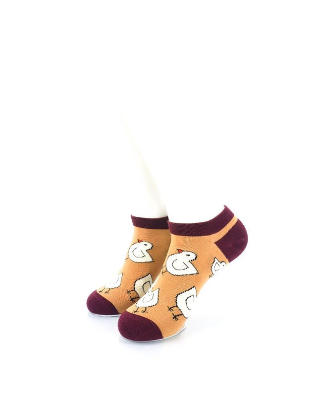 cooldesocks chicken little liner socks front view