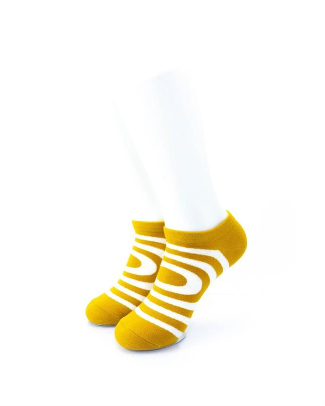cooldesocks circle mustard ankle socks front view