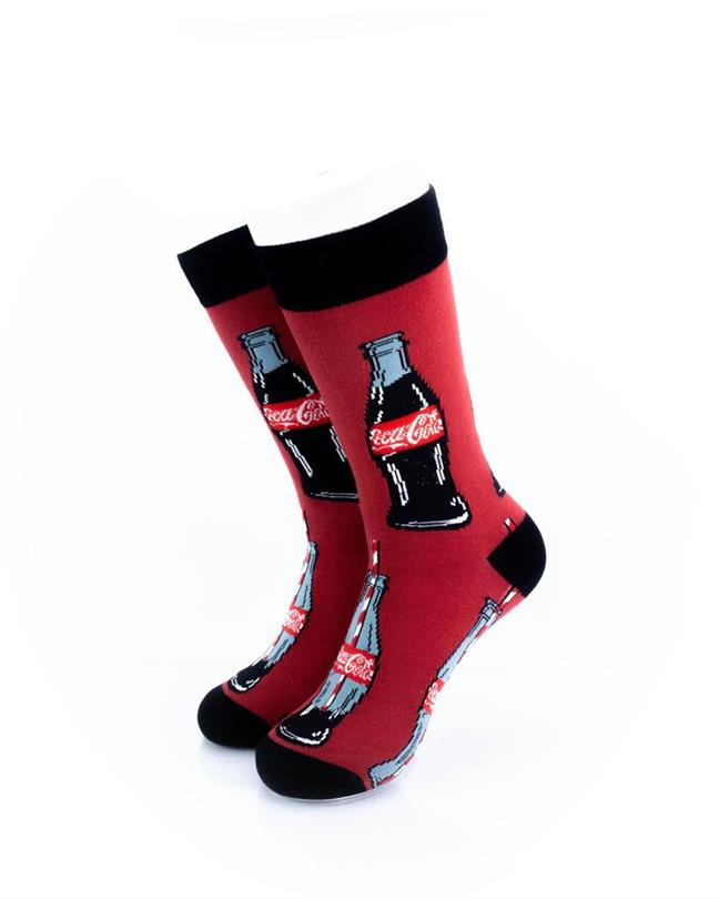 cooldesocks cocacola bottle crew socks front view