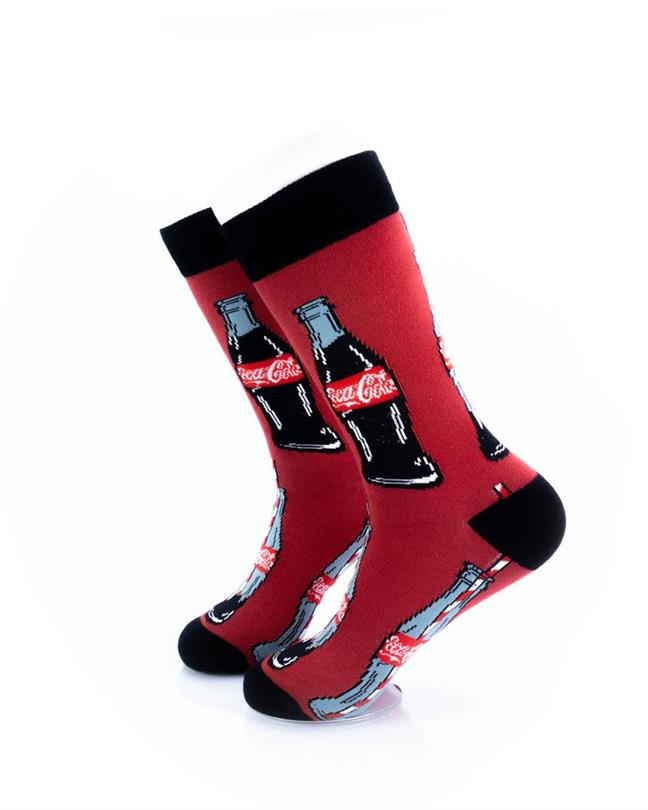 cooldesocks cocacola bottle crew socks left view