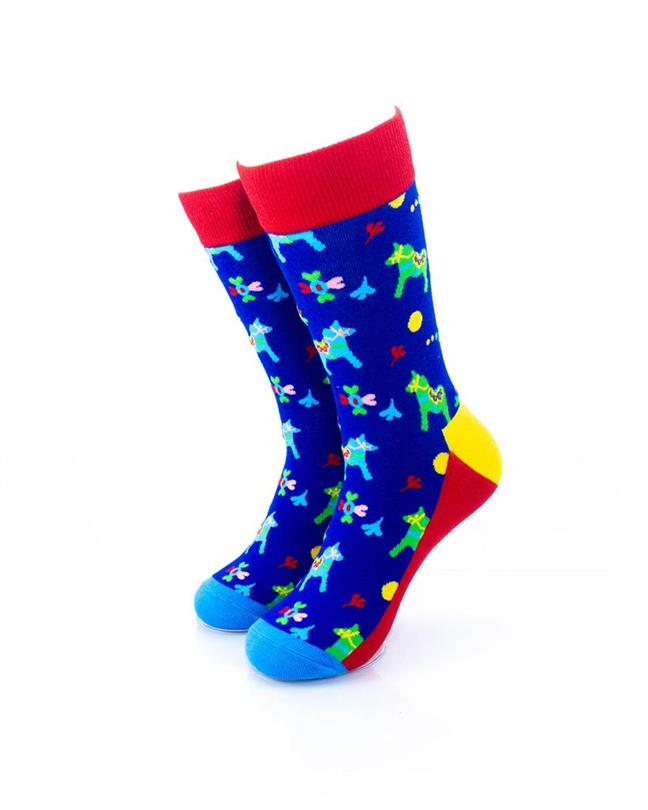 CoolDeSocks Colorful Carousel Horse Socks front view image