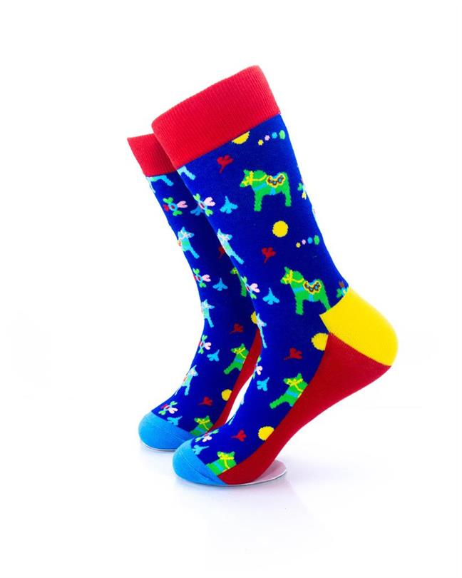 CoolDeSocks Colorful Carousel Horse Socks left view image