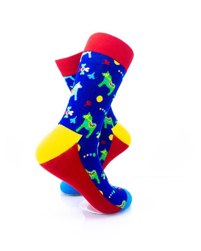 CoolDeSocks Colorful Carousel Horse Socks right view image