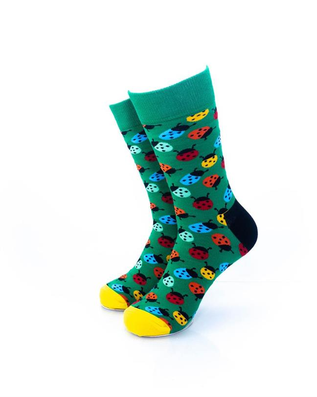 CoolDeSocks Colorful Ladybug Socks front view image