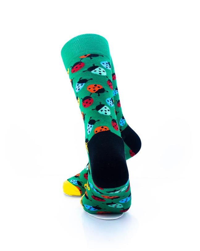 CoolDeSocks Colorful Ladybug Socks rear view image
