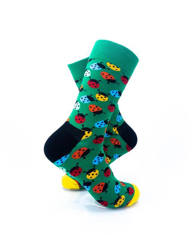 CoolDeSocks Colorful Ladybug Socks right view image