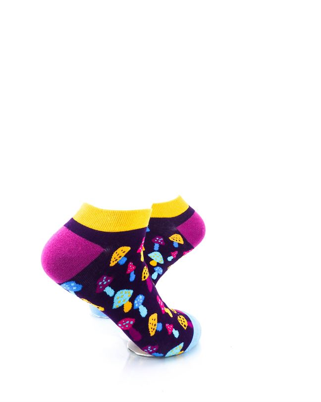 cooldesocks colorful mushroom neon ankle socks right view