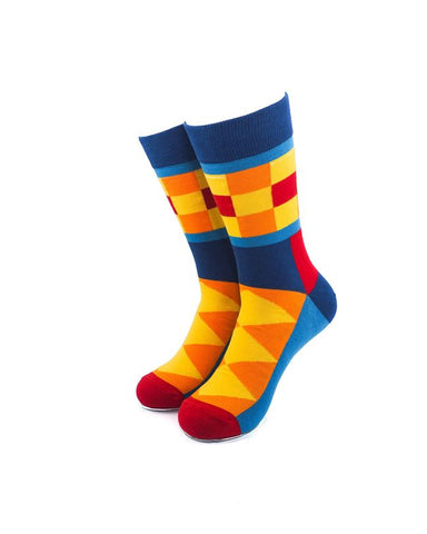 CoolDeSocks Colorful Patterns Socks front view image