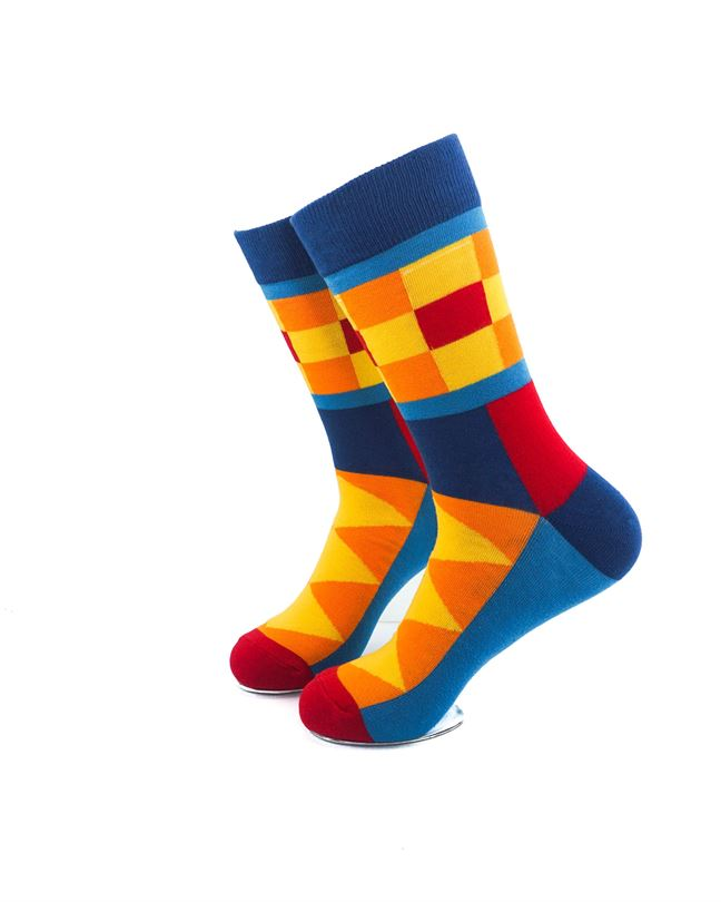 CoolDeSocks Colorful Patterns Socks left view image