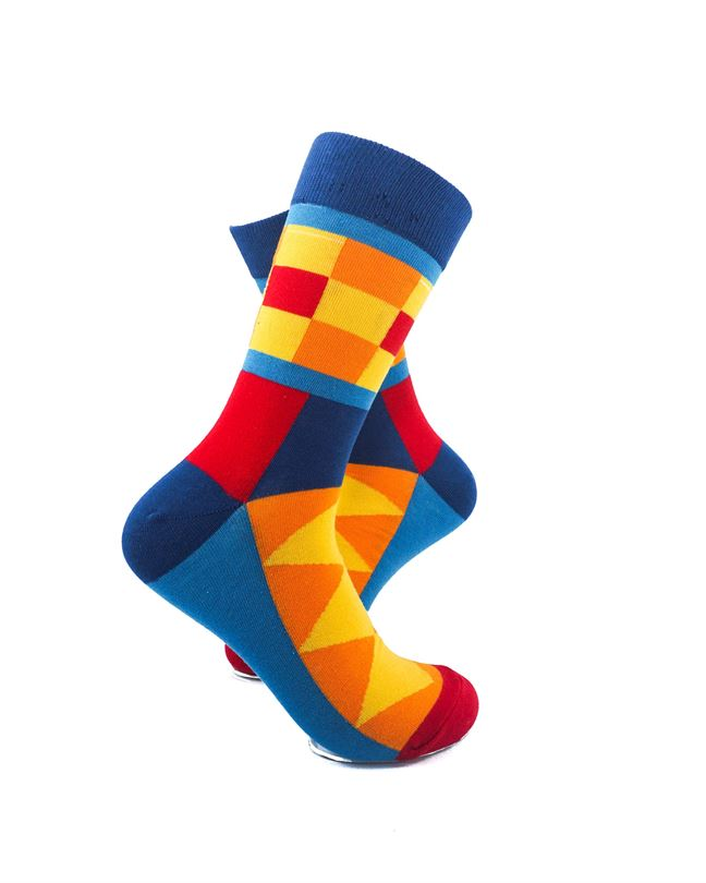 CoolDeSocks Colorful Patterns Socks right view image