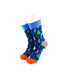 cooldesocks colorful pine trees quarter socks front view image