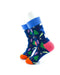 cooldesocks colorful pine trees quarter socks left view image