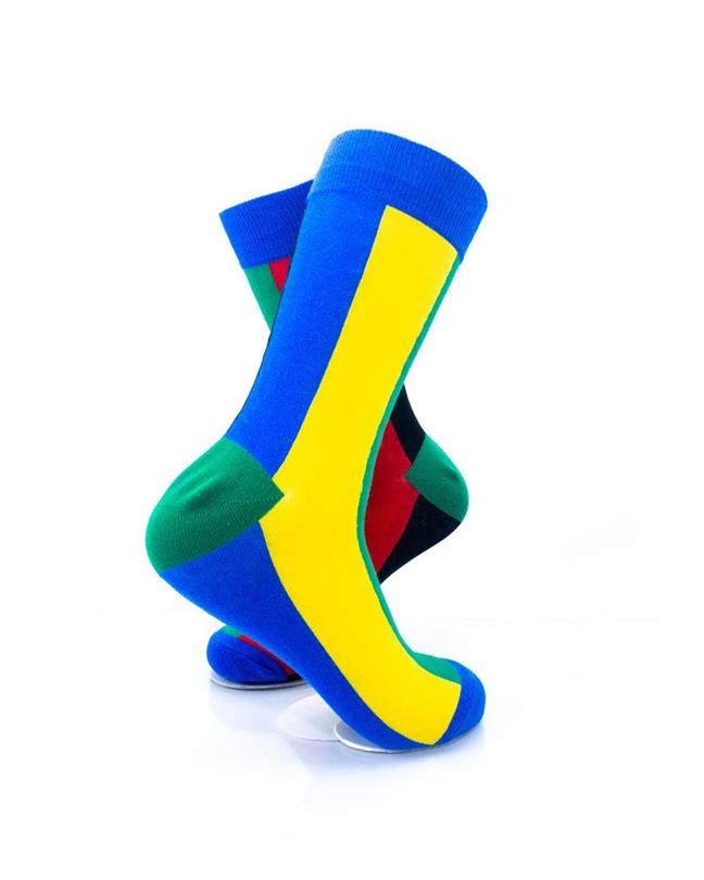 CoolDeSocks Colorful Rainbow Stripe Socks right view image