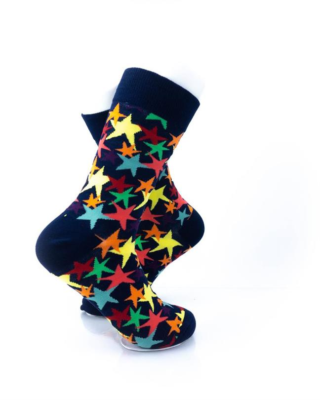 cooldesocks colorful stars crew socks right view