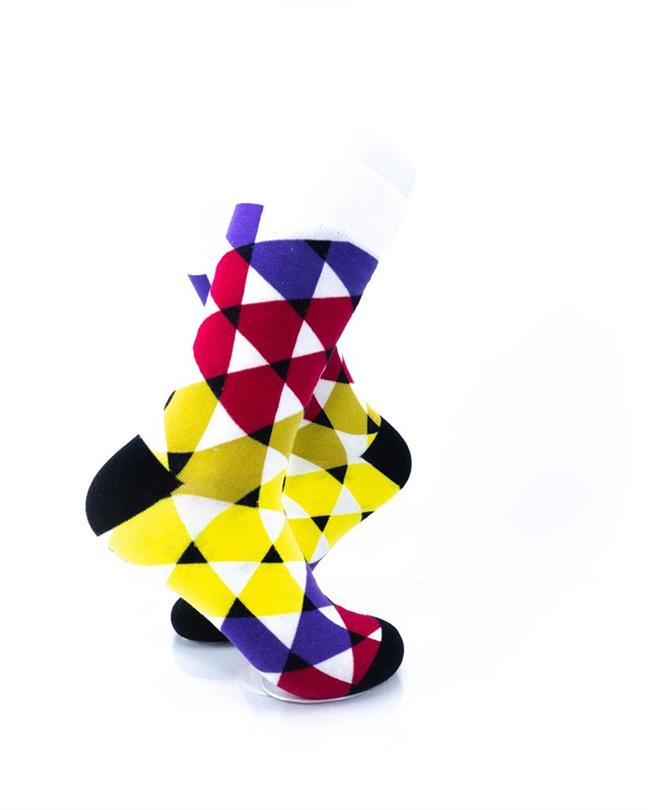 CoolDeSocks Colorful Triangles Socks right view image
