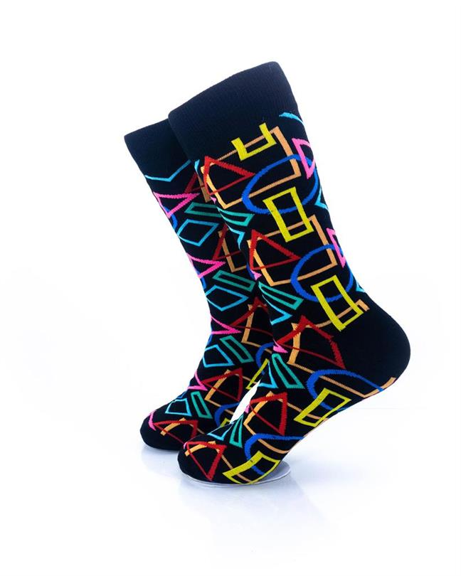 CoolDeSocks Colurful Geometry Socks left view image
