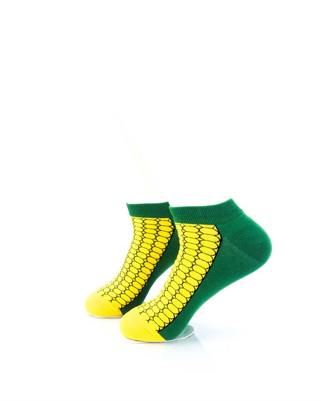 CoolDeSocks Corn on the Cob Ankle Socks left view image