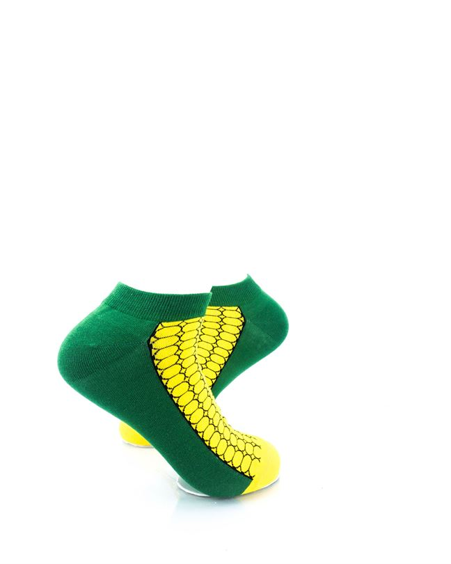 CoolDeSocks Corn on the Cob Ankle Socks right view image