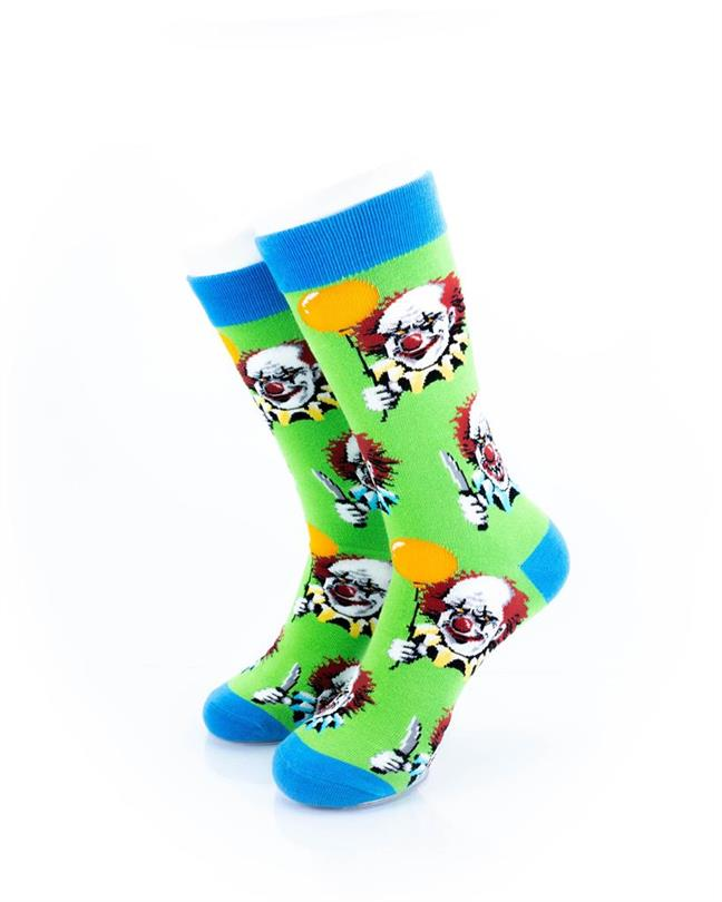 CoolDeSocks Crazy Clown Socks front view image