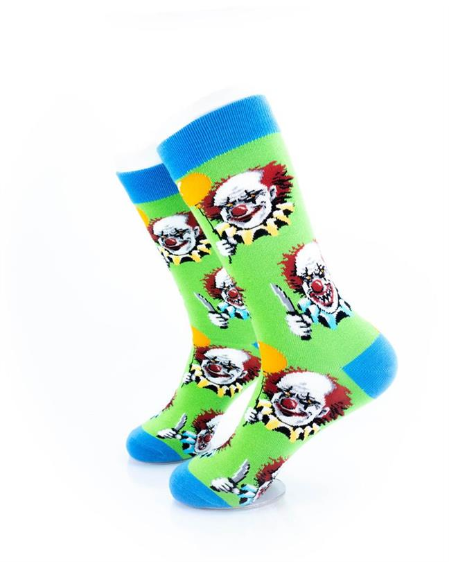 CoolDeSocks Crazy Clown Socks left view image