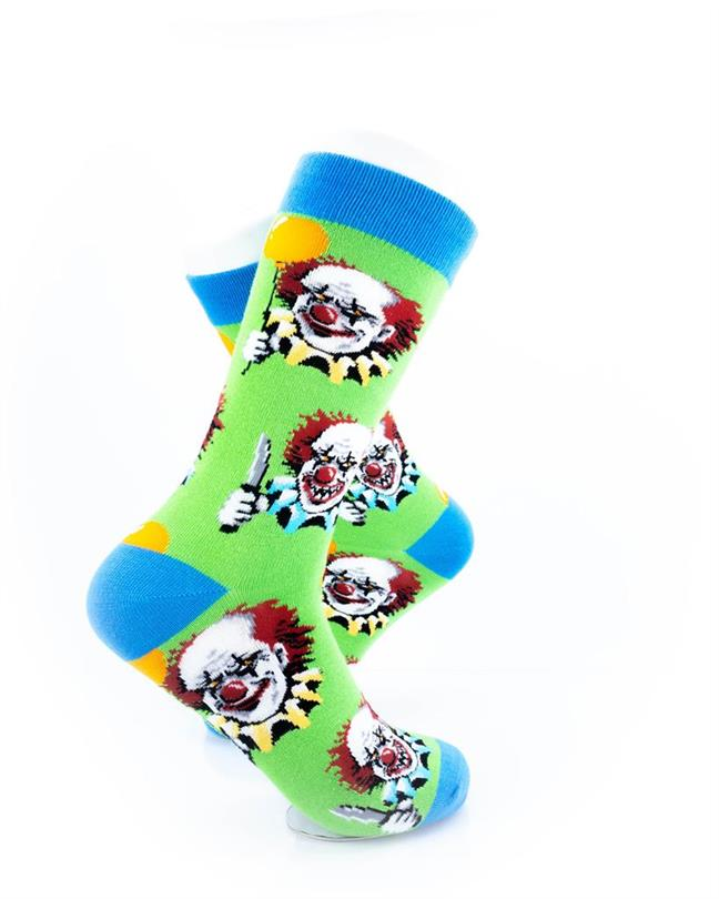 CoolDeSocks Crazy Clown Socks right view image