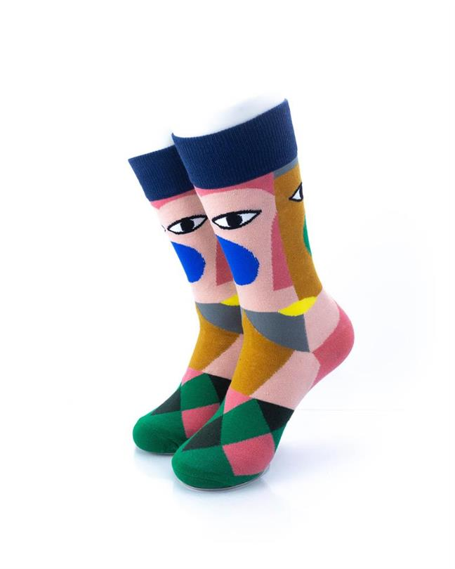 CoolDeSocks Cubism Socks front view image