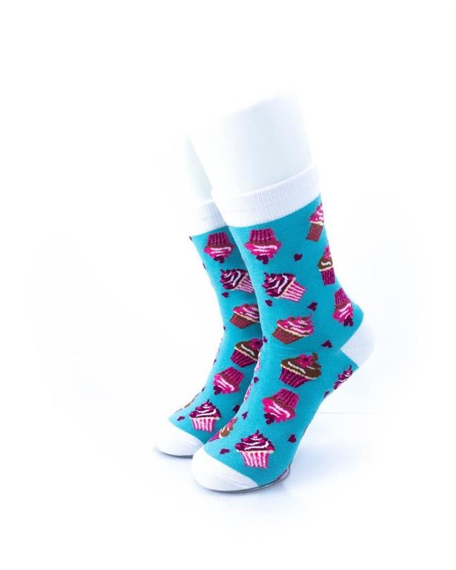 CoolDeSocks Cupcakes Socks front view image