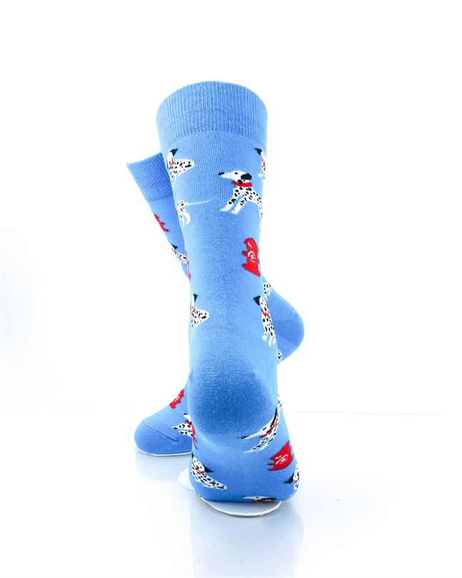 CoolDeSocks Dalmatians Fire Dog Crew Socks rear view image