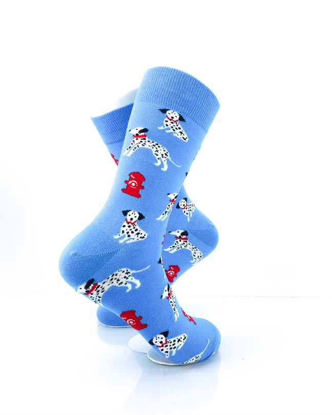 CoolDeSocks Dalmatians Fire Dog Crew Socks right view image
