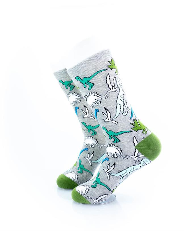 CoolDeSocks Dino Print Socks left view image