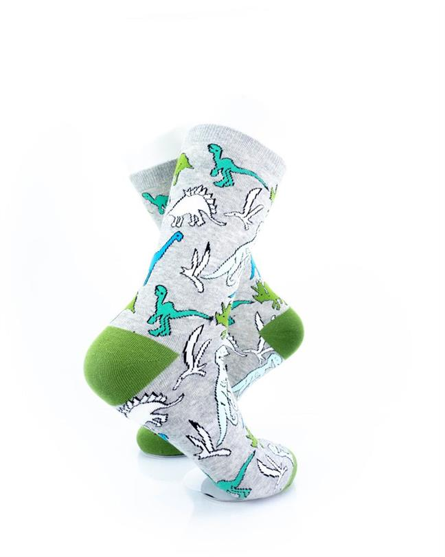 CoolDeSocks Dino Print Socks right view image