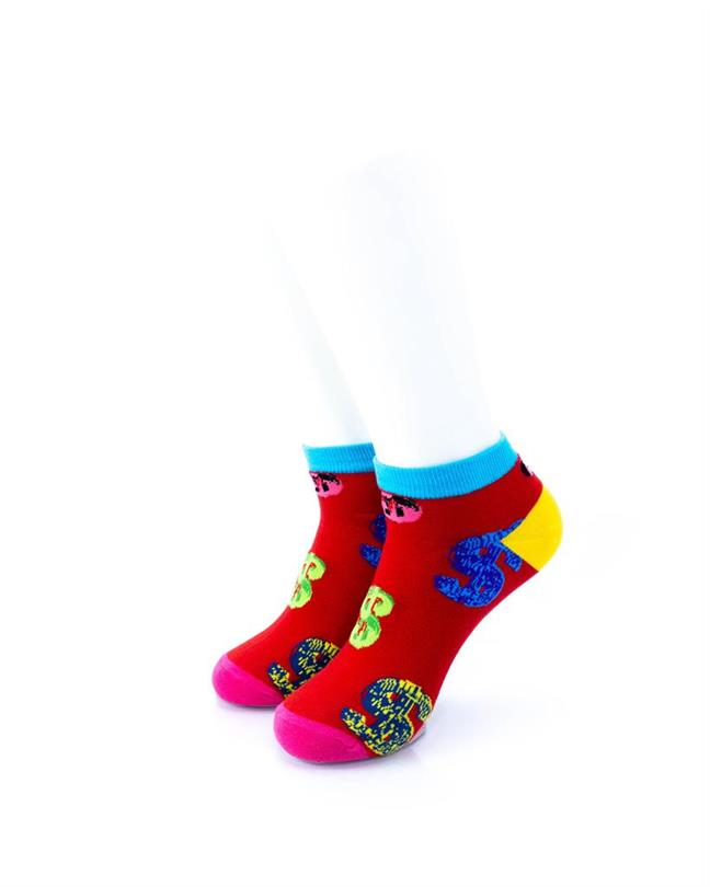 CoolDeSocks Dollars Red Socks front view image