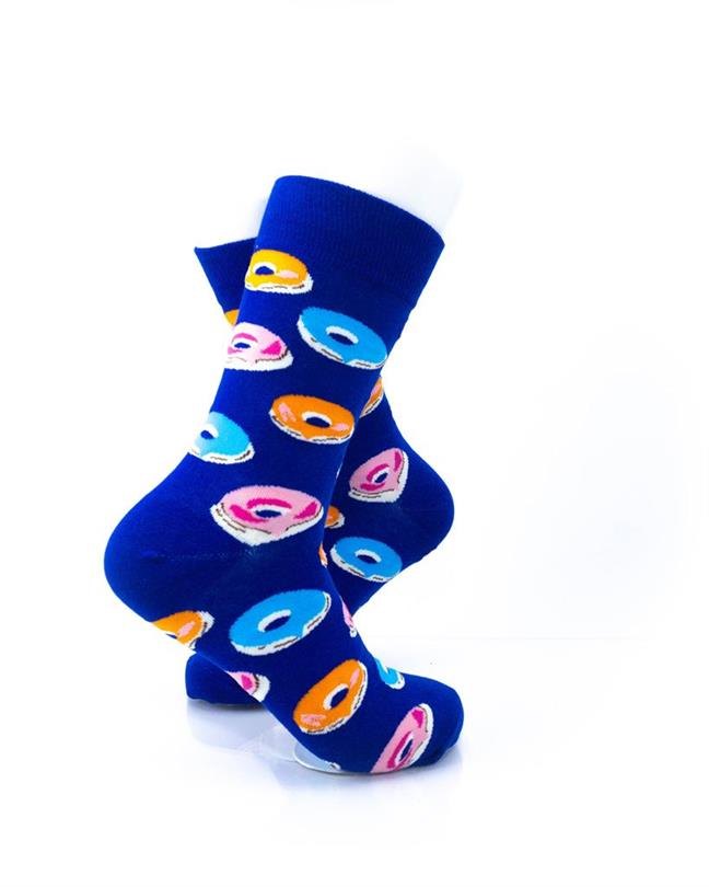 CoolDeSocks Donuts Blue Socks right view image