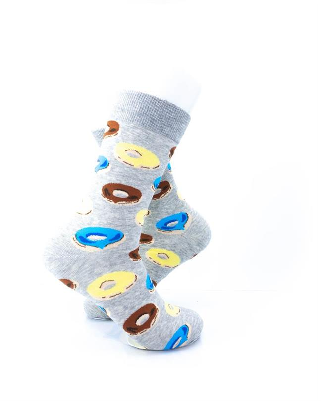 CoolDeSocks Donuts Gray Socks right view image