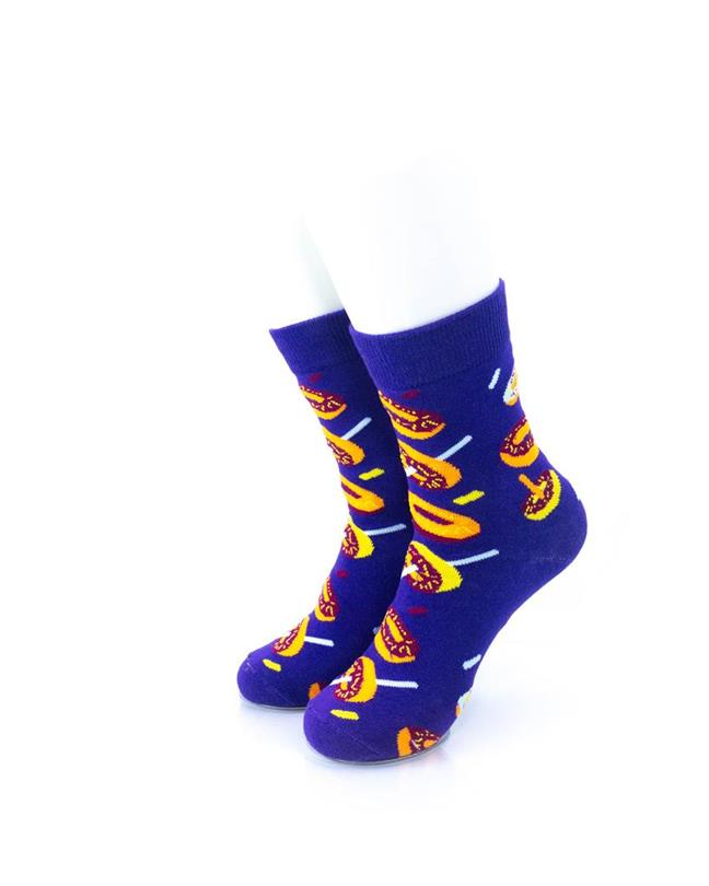 CoolDeSocks Donuts Purple Socks front view image