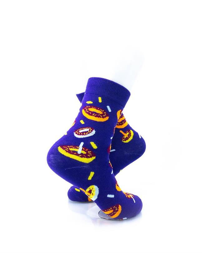 CoolDeSocks Donuts Purple Socks right view image