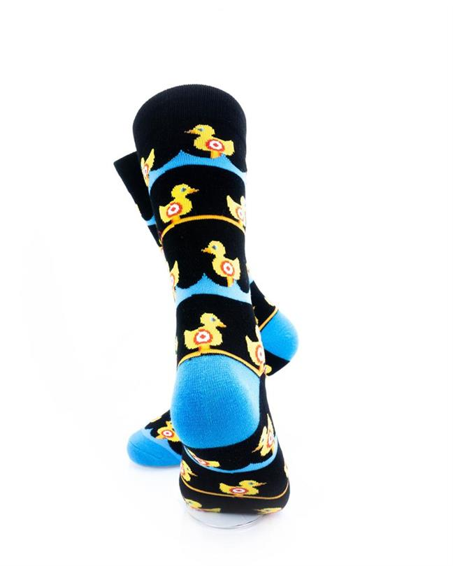 CoolDeSocks Duck Carnival - Black Socks rear view image