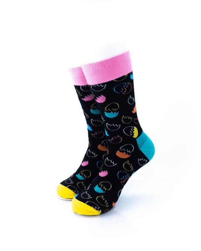CoolDeSocks Egg Shells Socks front view image