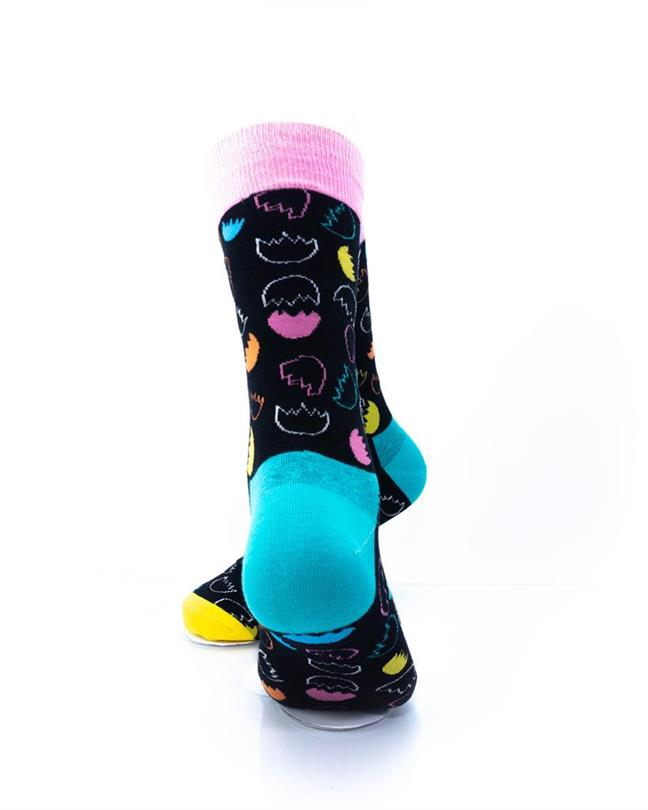 CoolDeSocks Egg Shells Socks rear view image