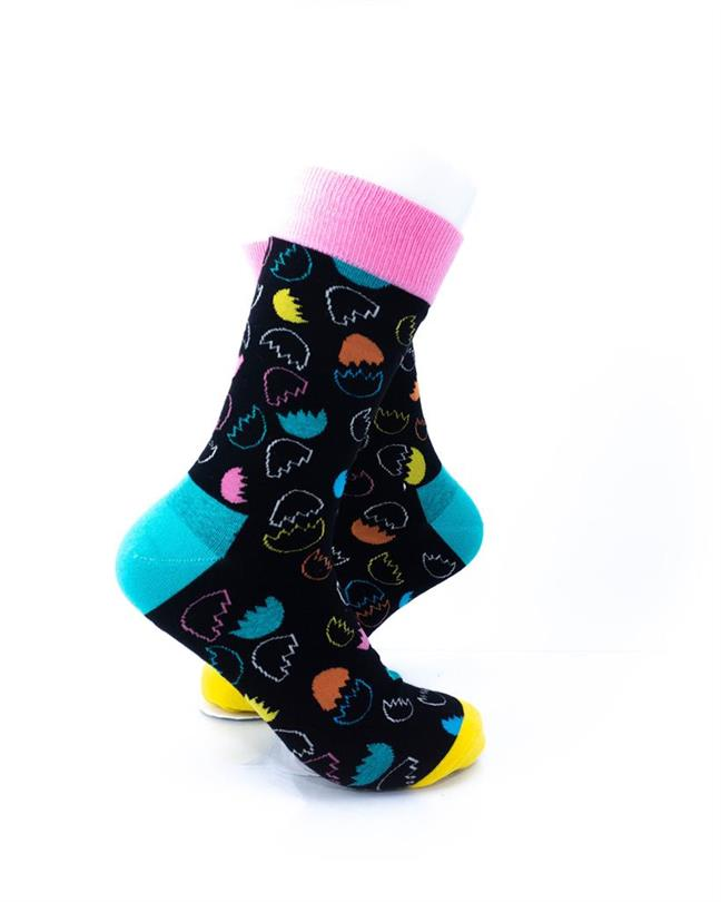 CoolDeSocks Egg Shells Socks right view image