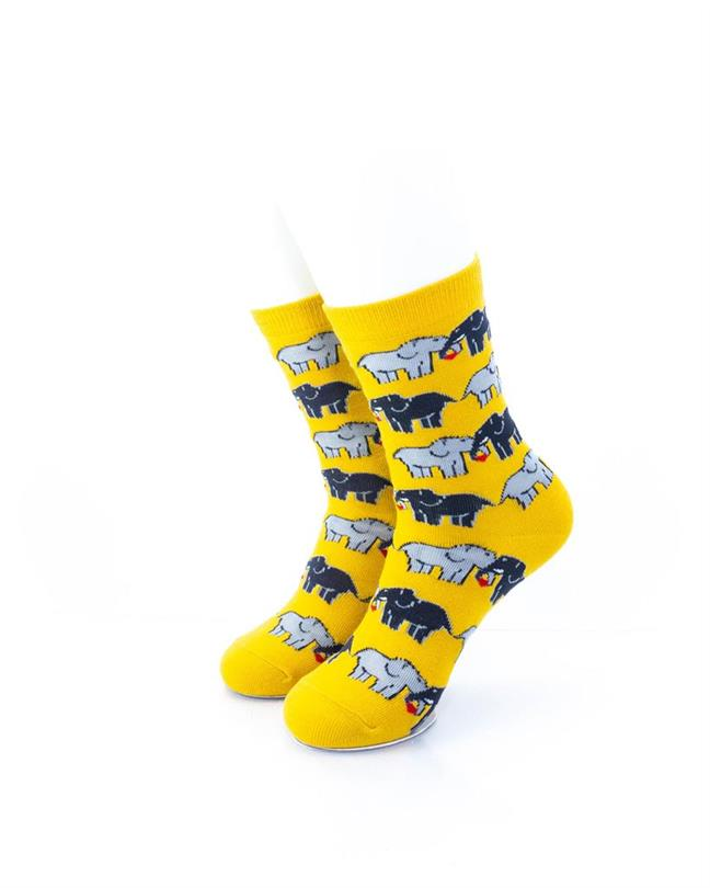 CoolDeSocks Elephant Love Socks front view image