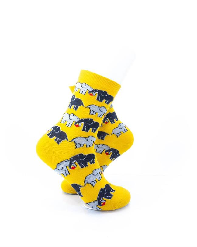 CoolDeSocks Elephant Love Socks right view image